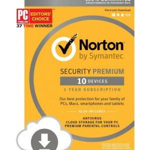 Norton Internet Security 2017 + Standard 10 Devices