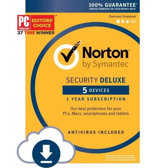 Norton Internet Security + Antivirus Deluxe 5 Devices