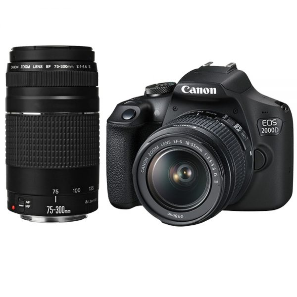 Canon EOS 2000D DSLR Camera – (EF-S 18-55 mm f/3.5-5.6 IS II)