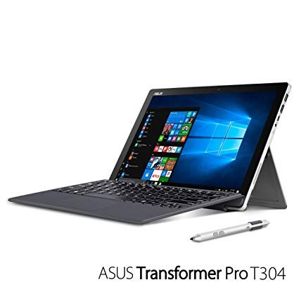 ASUS Transformer Pro T304U 12.5-Inch Laptop Intel Core I7-7500U 2.7GHz Processor 16GB RAM 256 SSD Intel HD Graphics Windows 10 Pro