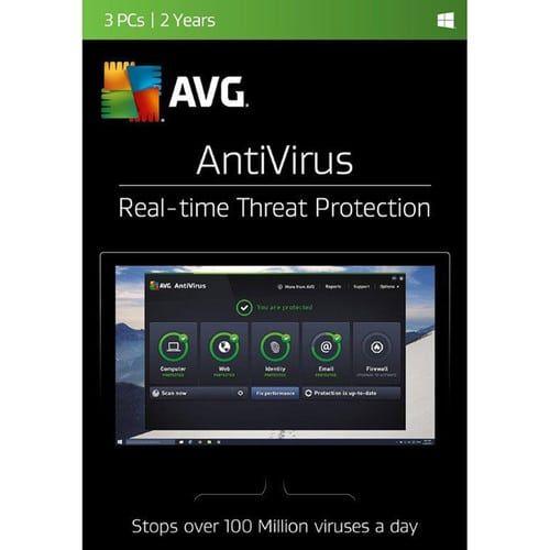 AVG AntiVirus 2017 3-Users 2-Years License