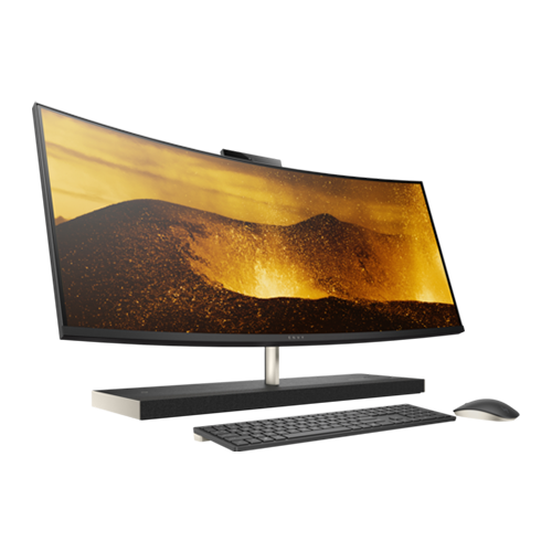 HP ENVY 34-b106nh Curved 34-Inch All-in-One Desktop Computer Intel Core i7-8700T 2.4GHz Processor 16GB RAM 2TB HDD + 256GB SSD NVIDIA GeForce Graphics Windows 10 Home -  6BH61EA