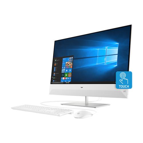 HP Pavilion 27-xa0401nh 27-Inch All-in-One Desktop Computer Intel Core i5-8400T 1.7GHz Processor 8GB RAM 1TB HDD NVIDIA GeForce Graphics Windows 10 Home - 6SR14EA