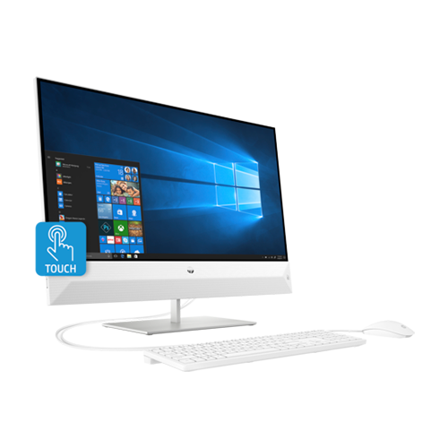 HP Pavilion 27-xa0187nh 27-Inch All-in-One Desktop Computer Intel Core i7-8700T 2.4GHz Processor 8GB RAM 2TB HDD NVIDIA GeForce Graphics Windows 10 Home - 6LH94EA
