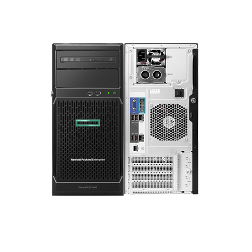 HPE ProLiant ML30 Gen10 Intel Xeon E-2124 4core 3.3GHz 1P Processor 8GB RAM S100i 4LFF NHP 350W PS Entry Server P06781-425