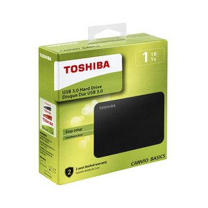 Toshiba 1TB Canvio Basics 2.5-Inch Portable External Hard Drive Black HDTB