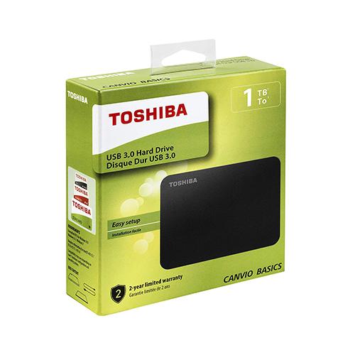 Toshiba 1TB Canvio Basics 2.5-Inch Portable External Hard Drive Black HDTB