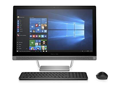 HP Pavilion 24-x012ds 23.8-Inch All-In-One Desktop Computer Intel Core i5-7400T 2.4GHz Processor 8GB RAM 1TB HDD AMD Radeon Graphics Windows 10 Home