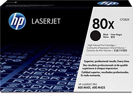 HP LaserJet 80X High Yield Black Toner Cartridge CF280X