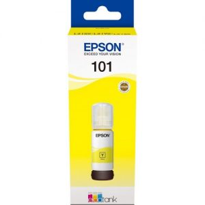 Genuine Epson EcoTank 101 70ml Yellow Ink Bottle