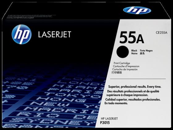 HP Original LaserJet 55A Black Toner Cartridge CE255A
