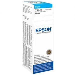 Genuine Epson T6732 Cyan 70ml Ink Bottle