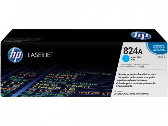 HP LaserJet 824A Cyan Toner Cartridge CB381A