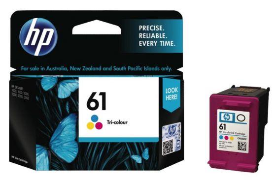 HP Original 61 Tri-Color Ink Cartridge CH562WA