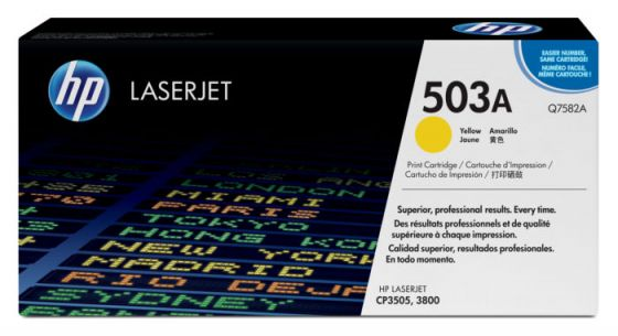 HP LaserJet 503A Original Yellow Toner Cartridge Q7582A