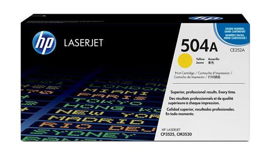 HP LaserJet 504A Original Yellow Toner Cartridge CE252A