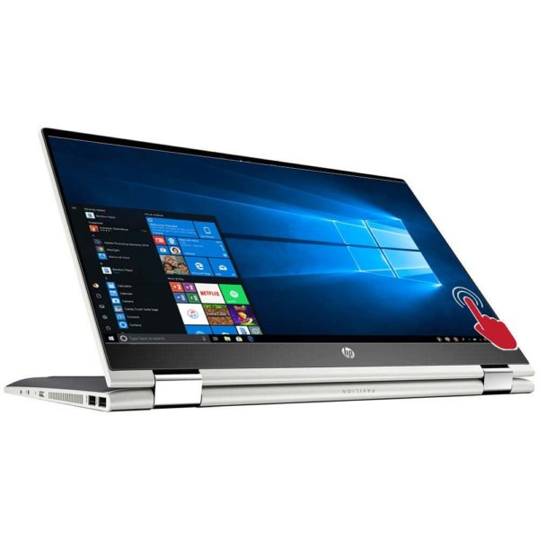 """HP Pavilion X360 14-DH1026NIA (3H439EA): Intel Core-i3-1005G1, 2.1GHz, upto 3.0Ghz, 14.0"""" inch Touchscreen, 4GB RAM, 1TB HDD, convertible, Wi-Fi, Bluetooth 4.0 combo, HP Webcam with integrated digital microphone, Dual speakers, Windows 10 home"""