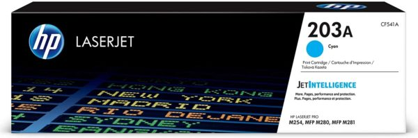 HP 203A Coloured Original LaserJet Toner Cartridges
