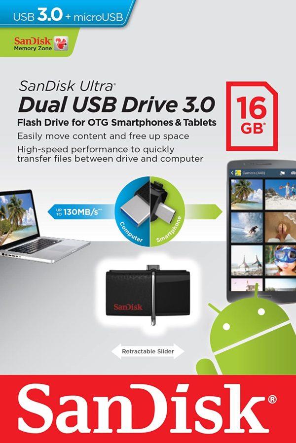 SanDisk 16GB Ultra OTG Dual USB 2.0 USB Flash drive