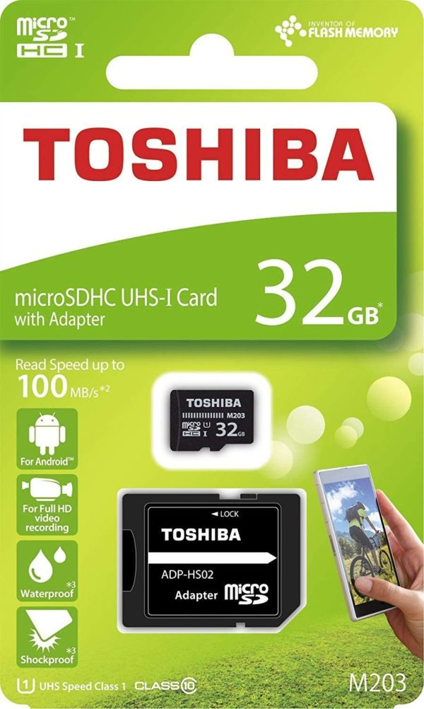 Toshiba 32gb Toshiba Memory Card With Adapter