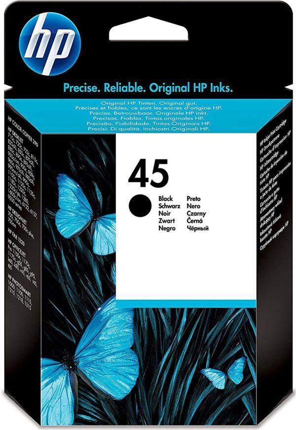 HP 45 Black Ink Cartridge 51645GE