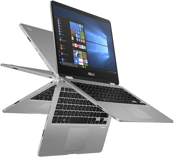"""ASUS VivoBook Flip 14 Series Intel® Celeron® N4000 Processor (4M Cache, up to 2.6 GHz), 14"""" HD, Touch Screen, 4GB DDR4 (on board), 256GB SSD, Intel UHD Graphics 600, Windows 10, 1 Year WTTY"""