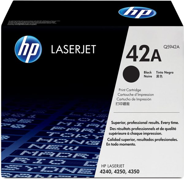 HP LaserJet 42A Original Black Toner Cartridge Q5942A