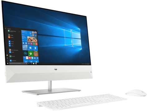 """HP PAVILION 24-XA0502NH ALL-IN-ONE DESKTOP PC (9HE90EA) INTEL CORE I7-9700T (2.0 GHZ) INTEL UHD GRAPHICS 630 2TB HDD, 16GB RAM 23.8"""" FHD *TOUCH SCREEN* DISPLAY FHD CAMERA WI-FI BLUETOOTH USB KEYBOARD AND MOUSE WINDOWS 10 HOME 64 SNOWFLAKE WHITE"""