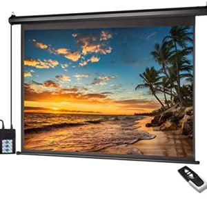 "100"" X 100"" Wall Mounted Electric Motorized Projector Screen"