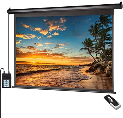 """100"""" X 100"""" Wall Mounted Electric Motorized Projector Screen"""