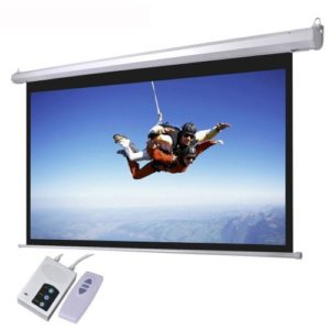 """72"""" X 72"""" Wall Mounted Electric Motorized Projector Screen"""
